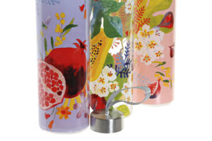 Botellas Flores y Frutas1